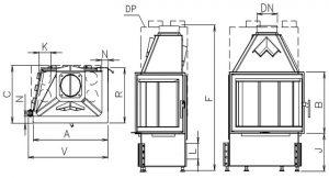 Corner 730/510 BS/450 Prawy
