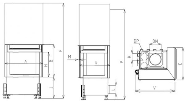 Corner VD gilotyna 720/510 BS/500 prawy