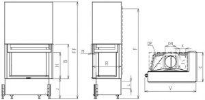 Corner VD gilotyna 950/450 BS/500 Prawy