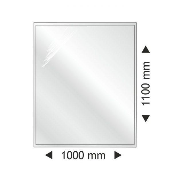 Podstawa szklana prostokątna 1000x1100 mm